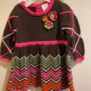 Hanna Andersson multi color Sweater dress size 70